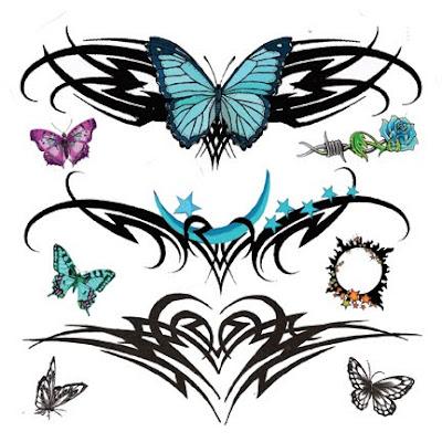 Tribal Lower Back Temporary Tattoos Designs