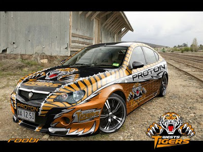Proton Gen2 Car Airbrush Designs