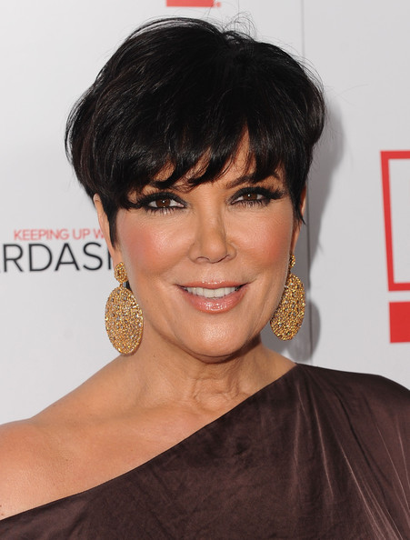 Kris Jenner Short Straight Cut Hairstyles