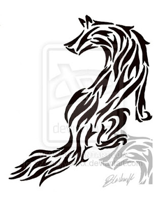 Another kind of wolf tattoo is inspired by the Twilight series- New Moon.