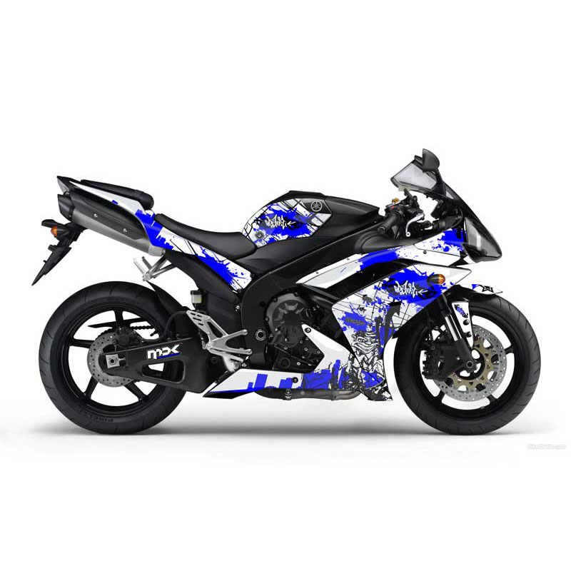 2011 yamaha r1 airbrush sport bike decal kit car for Yamaha sport motorcycles