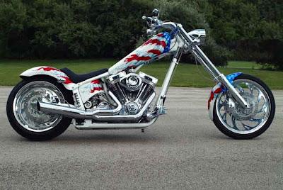 American Flag Chopper Airbrush