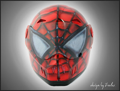 Spiderman design airbrushed helmet 1