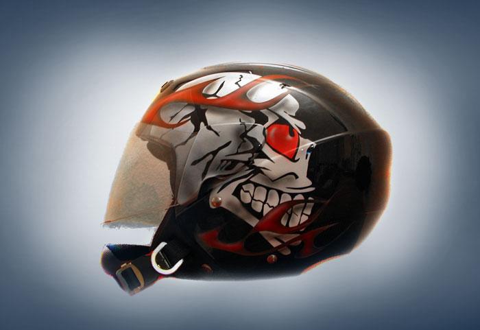 3 4 Helmets Motorcycle Car Interior Design