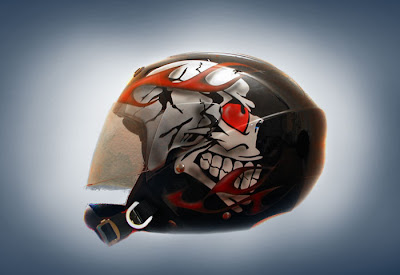 2011 Airbrushed helmet skull design 1