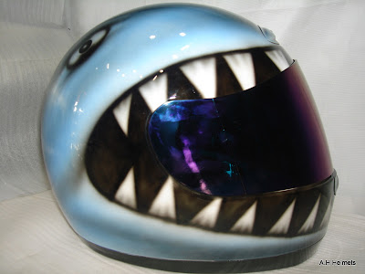 Custum AGV Helmet Airbrush Shark Designs 1