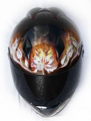 Marushin Full Face Helmet Airbrush 3