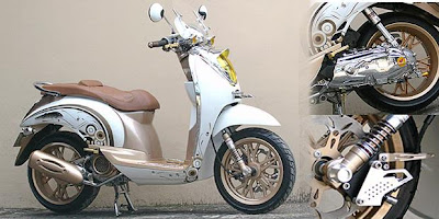 Honda Scoopy Minimalist Airbrush Modification 2