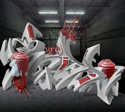 Graffiti 3D Arrow Graphic Designs 9