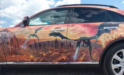 Amazing Graffiti Mural Art on Car 7