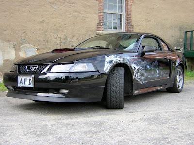 Automotive Art & Design Airbrush on Mustang Car 4