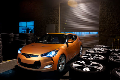 2012 Hyundai Veloster Orange Color Front