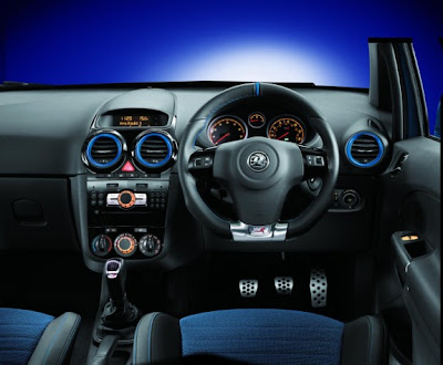 2011 Vauxhall Corsa VXR Blue Color Dashboard