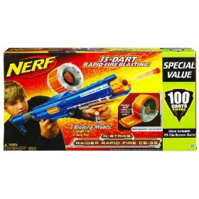 Holiday gift reviews nerf raider rapid fire cs 35 for Nerf motorized rapid fire blasting