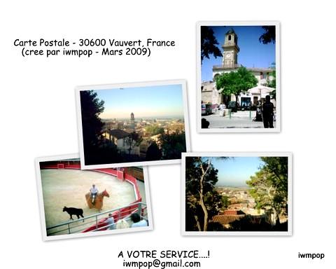 Vauvert postcard