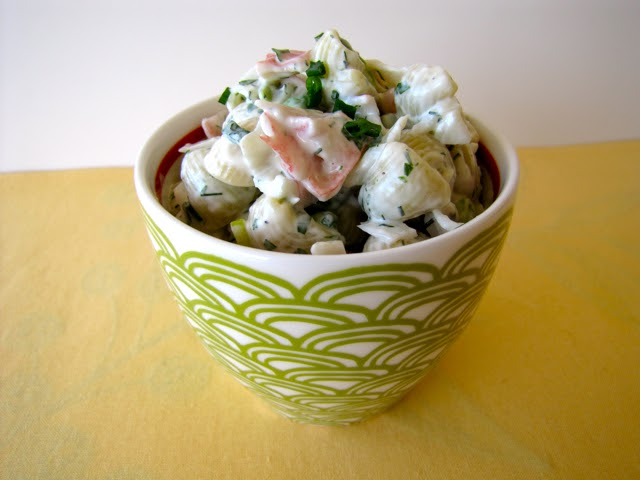 how to make seafood salad with imitation crab and shrimp