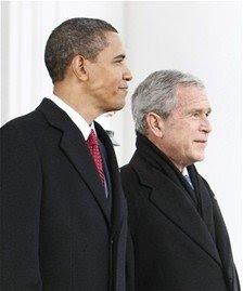 Obama y Bush llegan juntos al Capitolio para su investidura como presidente