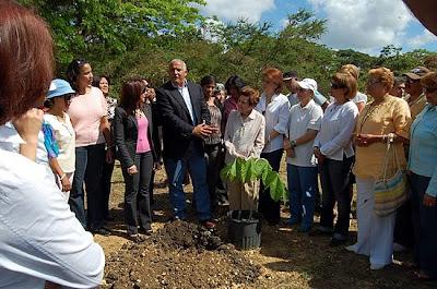 """Medio Ambiente y ecologistas crean el """"Bosque de la Mujer"""" en el Cachón de la Rubia"""