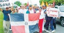 Entidades de Bonao marchan hacia  Palacio