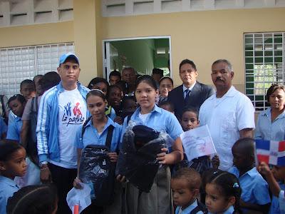 COJUDECA, Iza la bandera en Escuela Básica Cancino Adentro