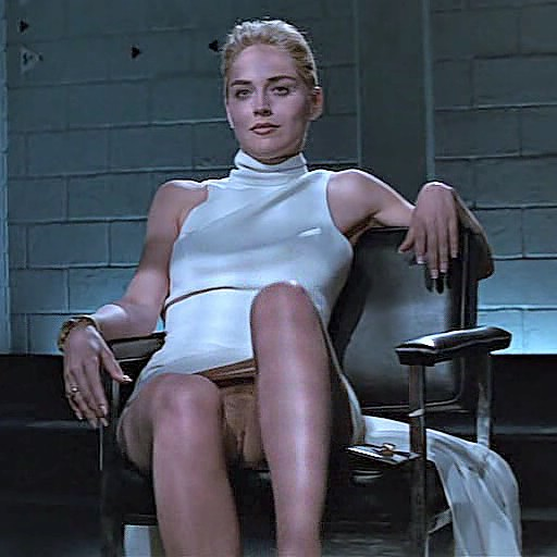 sharon stone flash