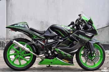 Modifikasi Ninja on Modifikasi Kawasaki Ninja Rr 150   Bike Motorcycle Modification
