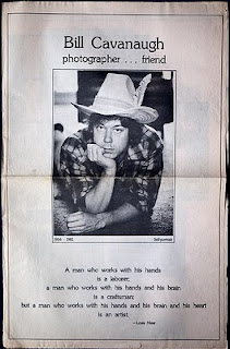 Newspaper tribute to Bill, 1981