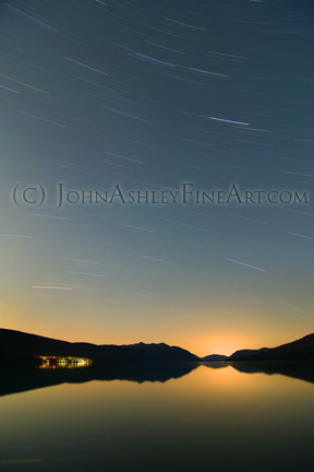 Lake McDonald star trails (c) John Ashley