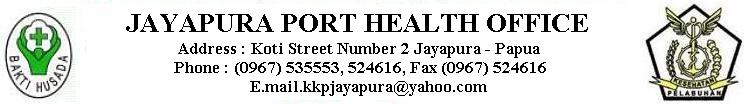 JAYAPURA PORT HEALTH OFFICE
