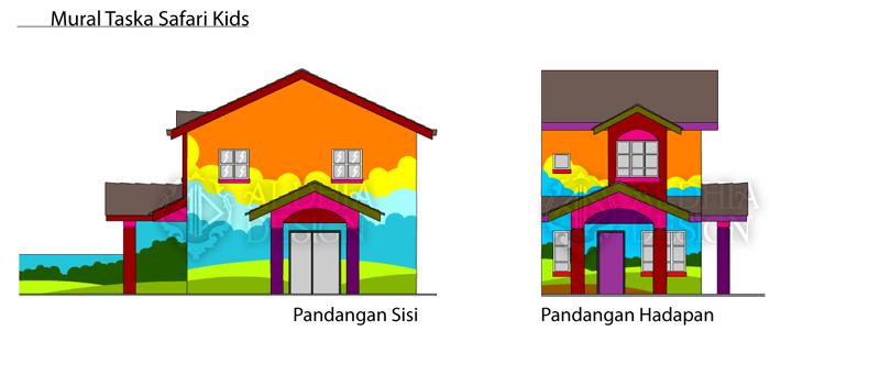 Aldhia design corporate design for taska safari kids for Mural untuk taska