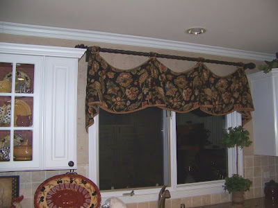 window treatment ideas for kitchens. My kitchen treatment was done