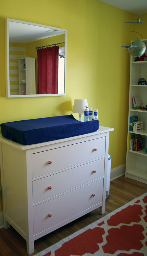 ikea hemnes as changing table. Black Bedroom Furniture Sets. Home Design Ideas