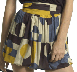 Geometrtic Print Skirt