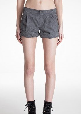 Grey Flannel Trouser Shorts