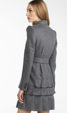 Peplum Back Coat