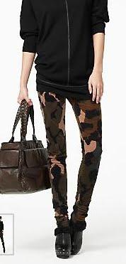 Skinny Camo Print Pants