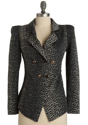 Cheetah Print Blazer