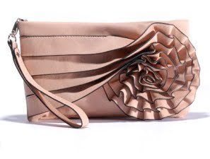Pleated Rose Clutch