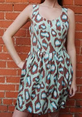 Mint Leopard Print Dress