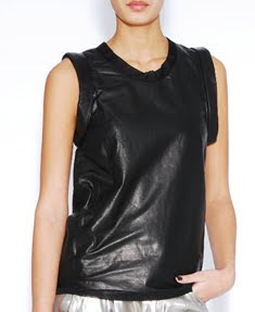 Leather Muscle Tee