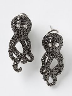 Sparkly Octopus Earrings