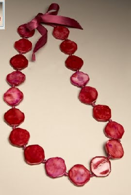 Bright Flat Bead Necklace
