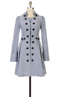 Velvet Gray Button Coat