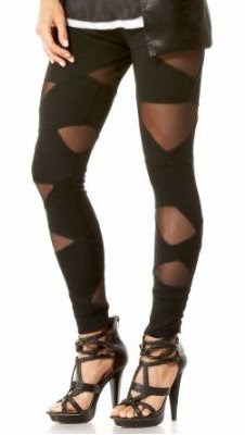 Cutout Mesh Leggings