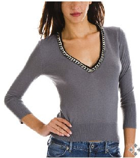 Chain V-Neck Sweater