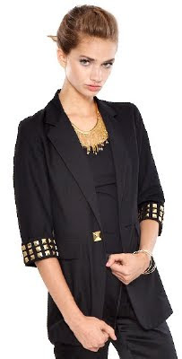 Studded Boyfriend Blazer