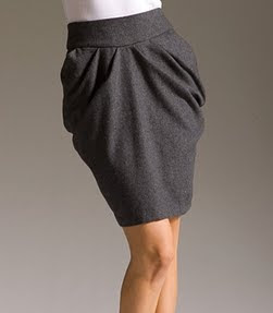 Woven Pleat Tulip Skirt