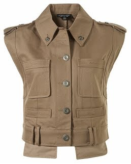 Cropped Utilitarian Vest