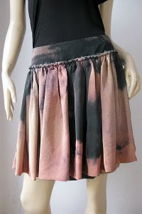 Painterly Silk Skirt
