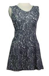 Vintage Lace Print Dress